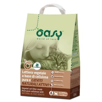 Lettiera Gatto Vegetale con Cellulosa 6 l OASY